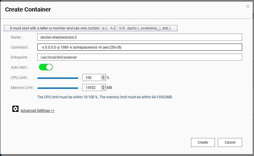Shadowsocks Linux Server / Qnap NAS 安裝(Docker) – Tiger-Workshop Blog